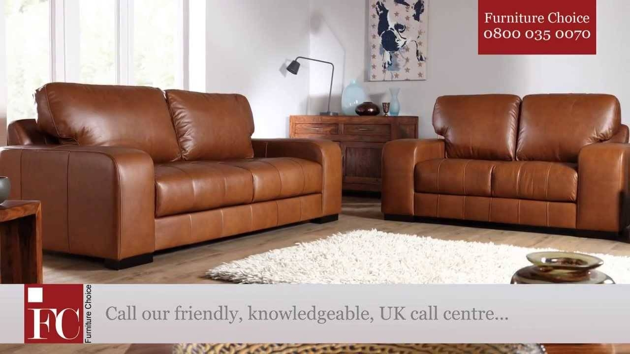 Buffalo Aniline Leather Sofas From Furniture Choice - Youtube inside Aniline Leather Sofas (Image 14 of 30)
