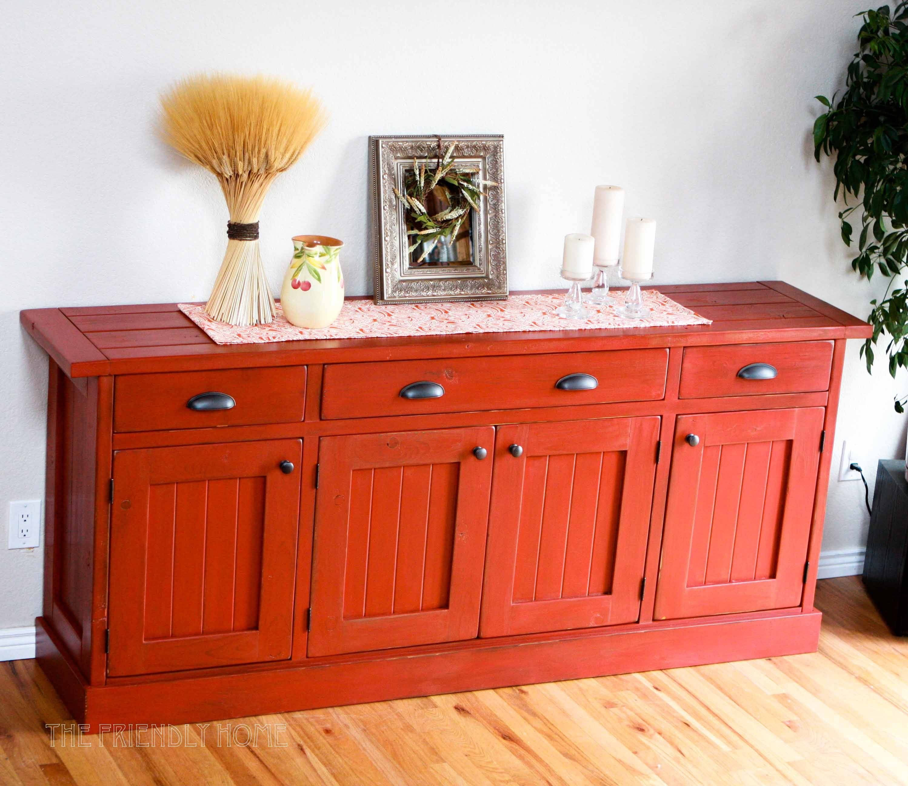 Buffet Kitchen Table | Interior Home Design for Red Sideboards (Image 6 of 30)