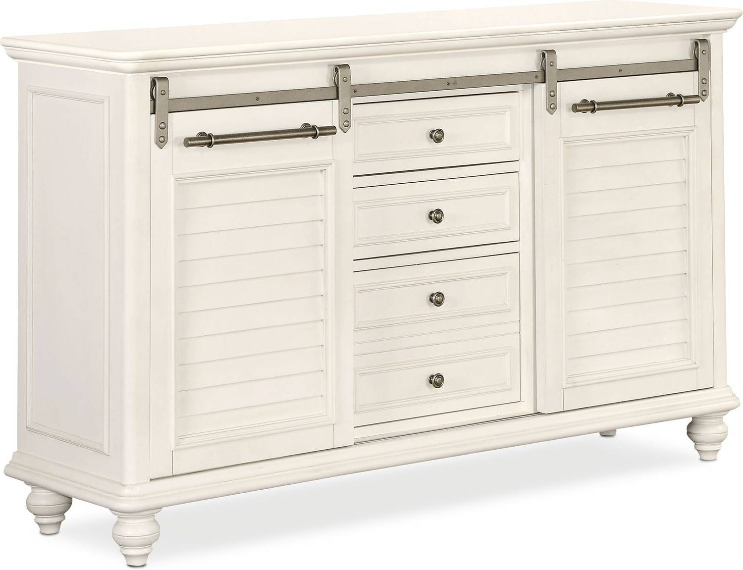 Buffet & Sideboard Cabinets | Value City Furniture intended for Small White Sideboards (Image 3 of 30)