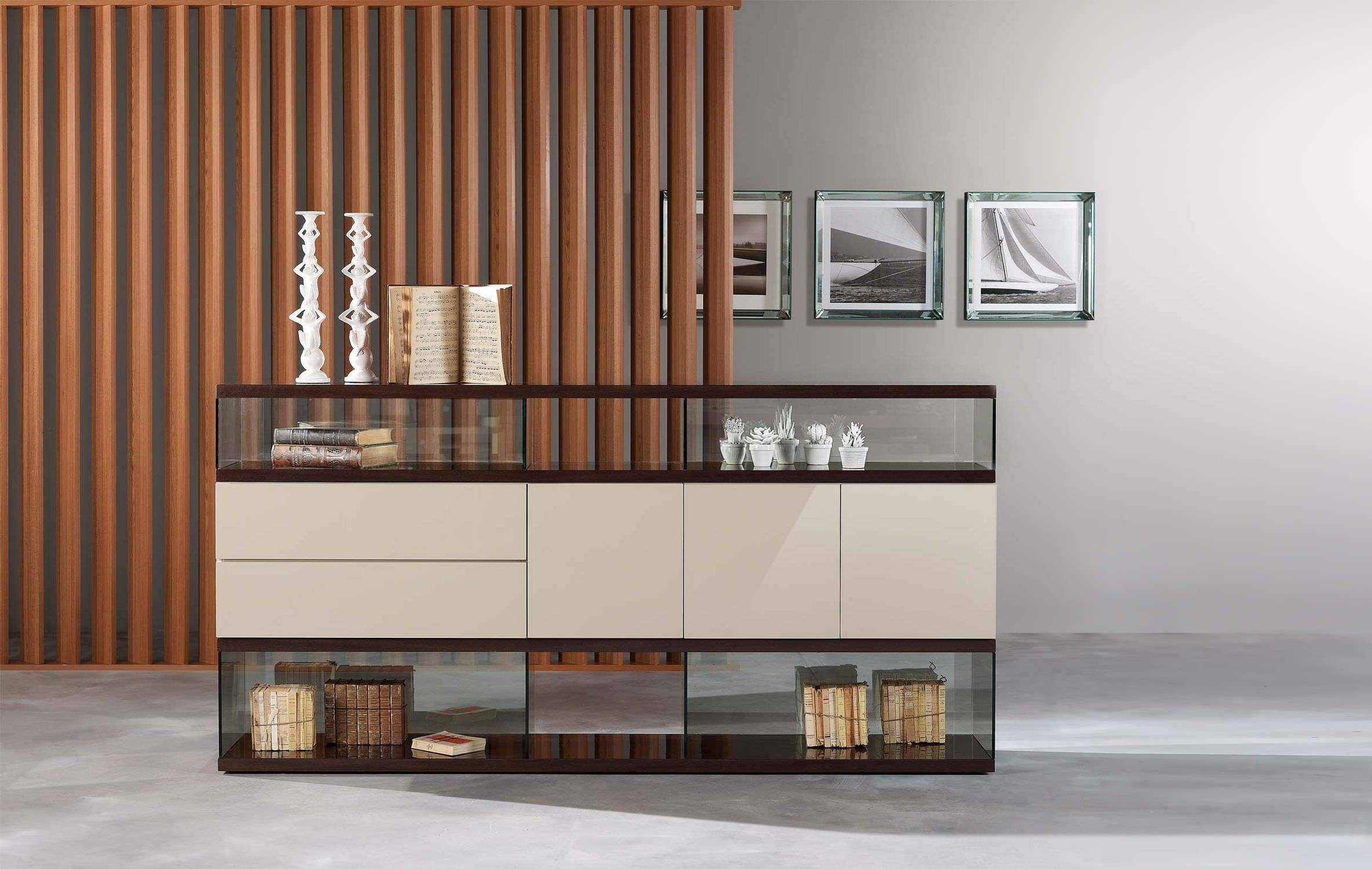 Buffet Sideboard With Glass Doors. Buffet Sideboard Server Cabinet inside Sideboards With Glass Doors (Image 1 of 30)