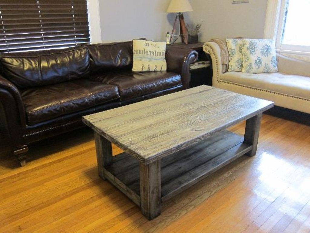 Build Rustic Wood Coffee Table | Tedxumkc Decoration with regard to Dark Wooden Coffee Tables (Image 2 of 30)