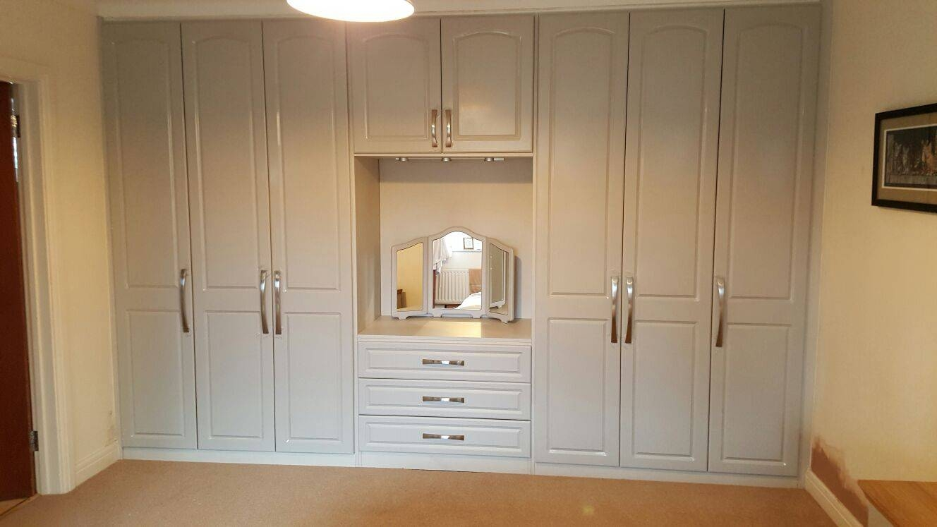 Built In Wardrobe With Dressing Table And Internal Drawers pertaining to Wardrobes And Dressing Tables (Image 4 of 15)