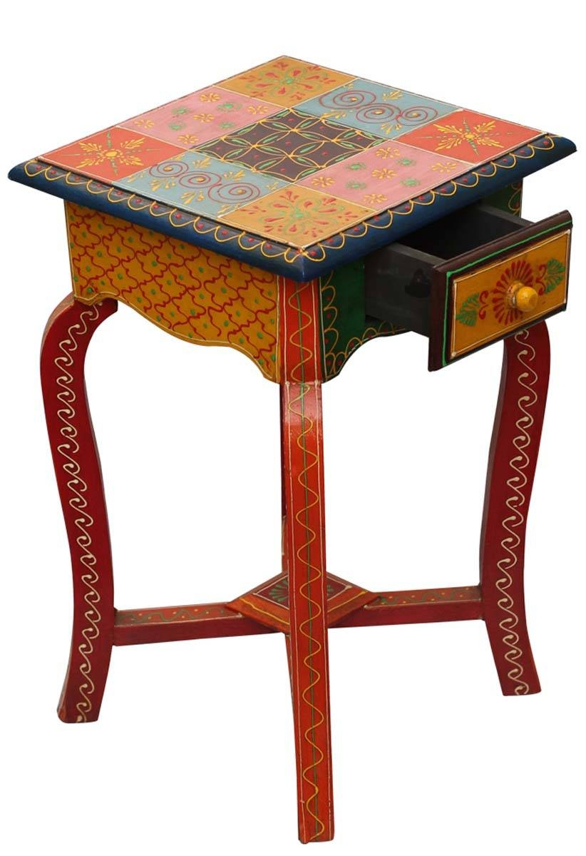 "Bulk Buy 18"" End/side Table With Drawer – Wholesale 4Leg Stand pertaining to Ethnic Coffee Tables (Image 6 of 30)"
