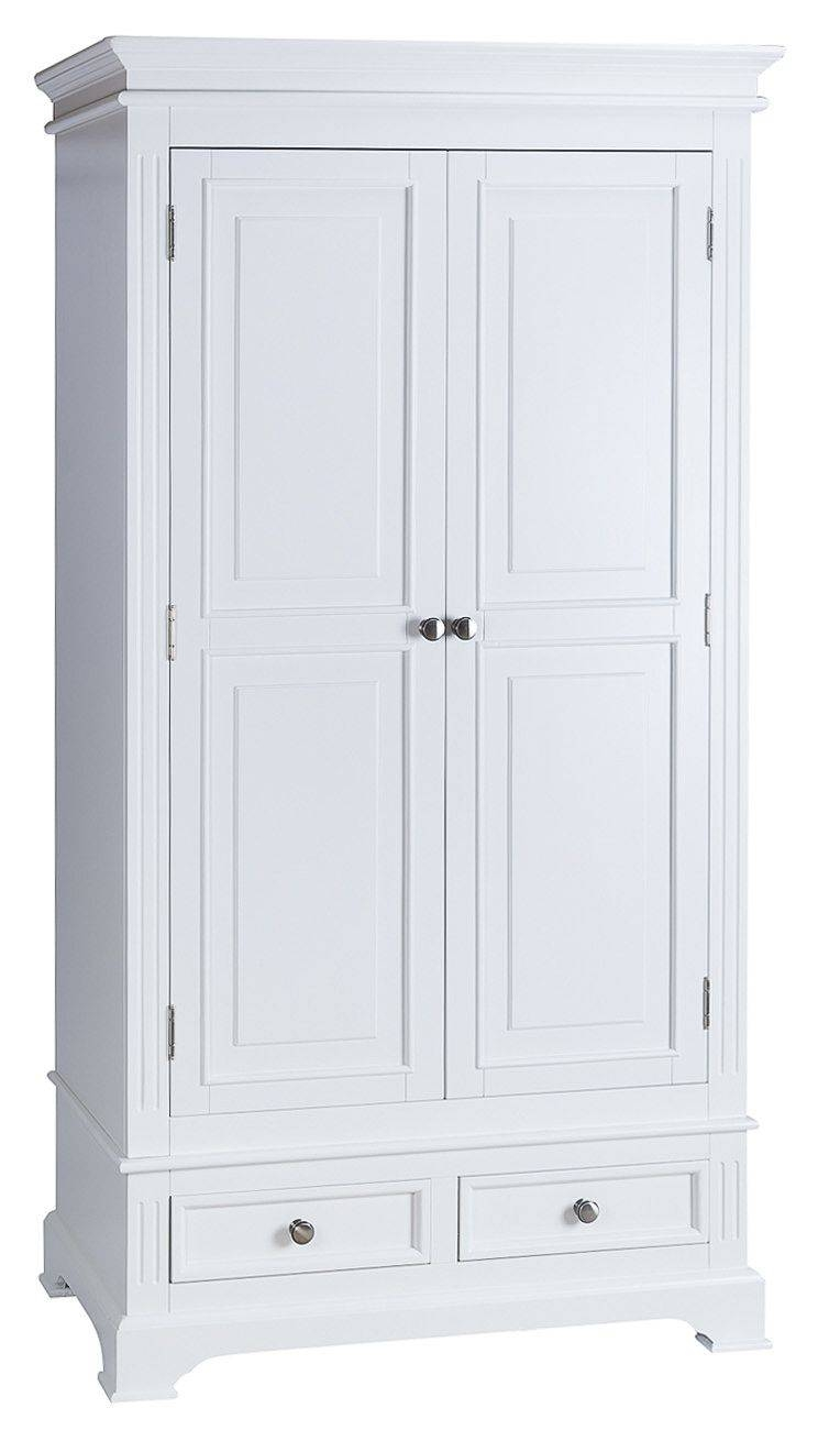Burford White Painted Double Wardrobe With Drawers with regard to White Double Wardrobes With Drawers (Image 5 of 15)