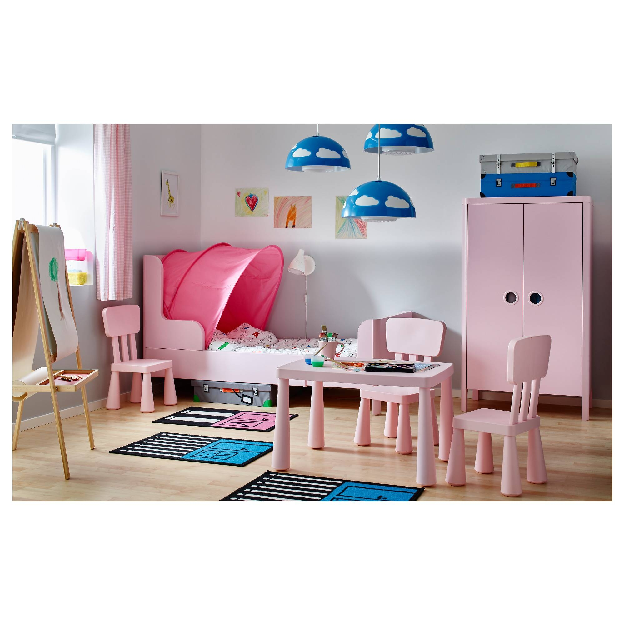 Busunge Wardrobe Light Pink 80X139 Cm - Ikea for Childrens Pink Wardrobes (Image 8 of 30)