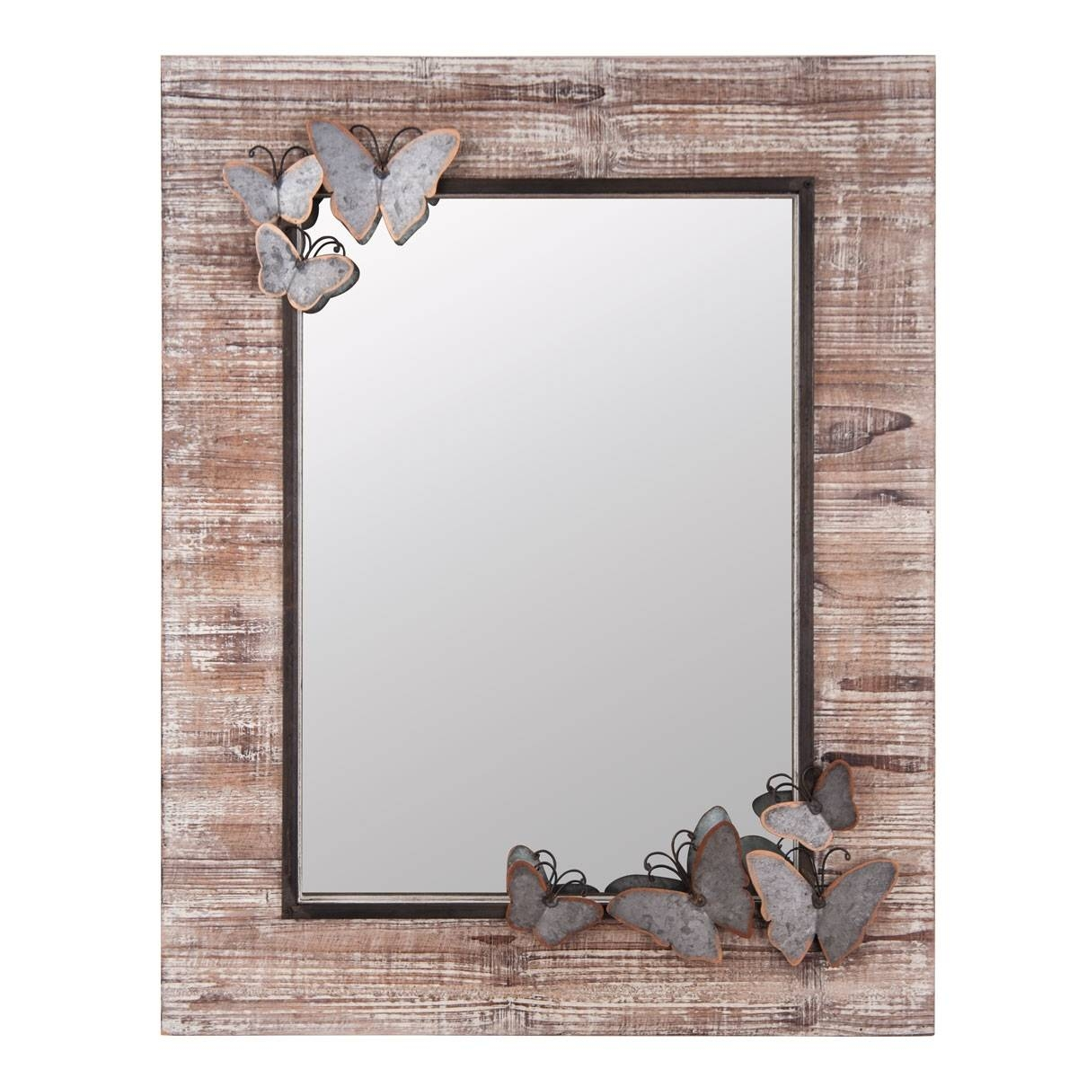Butterfly Wood Frame Wall Mirror | Plum & Post for Butterfly Wall Mirrors (Image 3 of 25)