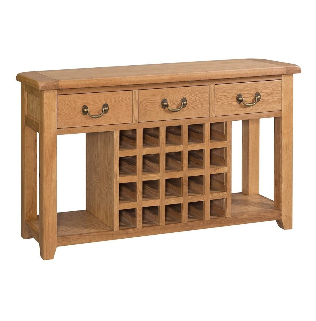 Buttermere Light Oak Open Sideboard With Wine Rack | Oak Furniture Uk inside Oak Sideboards With Wine Rack (Image 3 of 30)