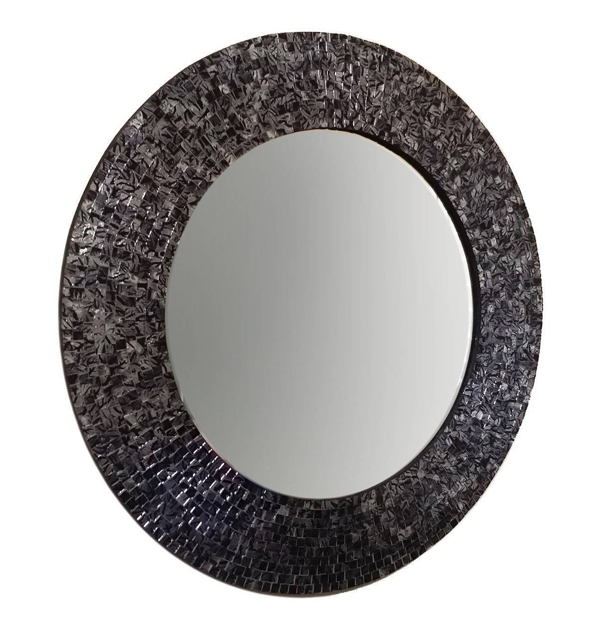 """Buy 24"""" Brown Traditional Mosaic Decorative Wall Mirror Online in Mosaic Wall Mirrors (Image 6 of 25)"""