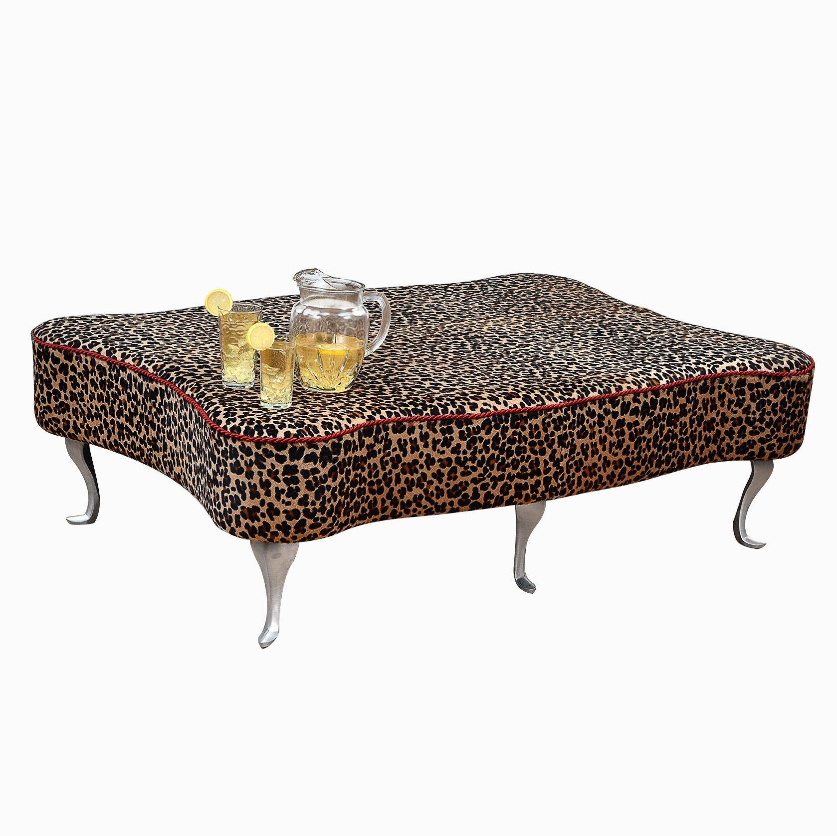 Buy A Custom Leopard Leather Hair-On-Hide Ottoman Coffee Table within Leopard Ottoman Coffee Tables (Image 5 of 30)