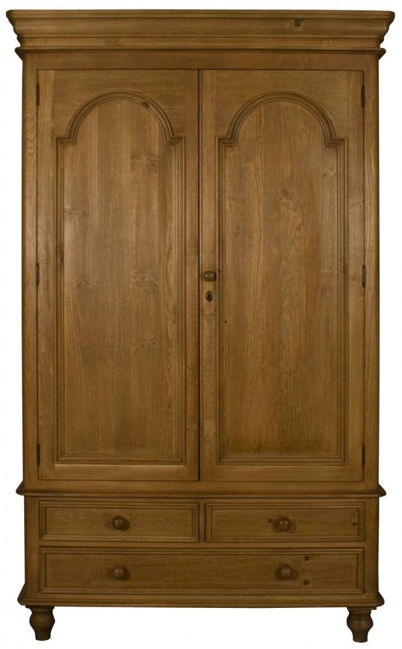 Buy Ascot Pine Wardrobe - Double 2 Doors 3 Drawers Online - Cfs Uk throughout Single Pine Wardrobes With Drawers (Image 2 of 15)