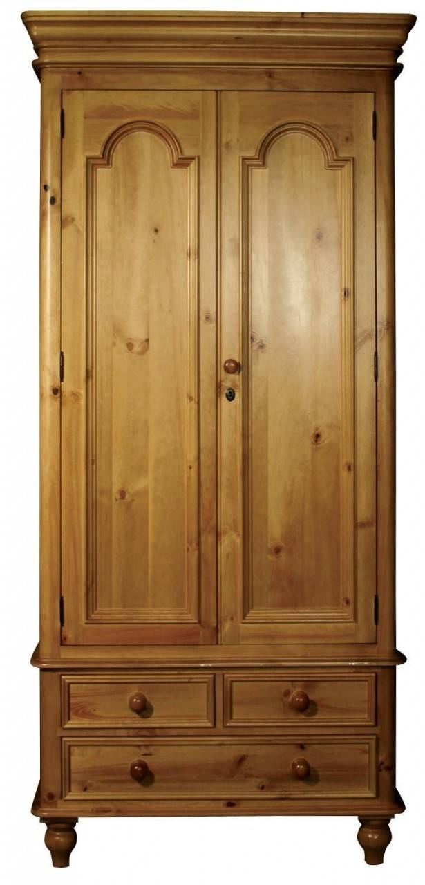 Buy Ascot Pine Wardrobe - Single 2 Doors 3 Drawers Online - Cfs Uk regarding Single Pine Wardrobes With Drawers (Image 3 of 15)