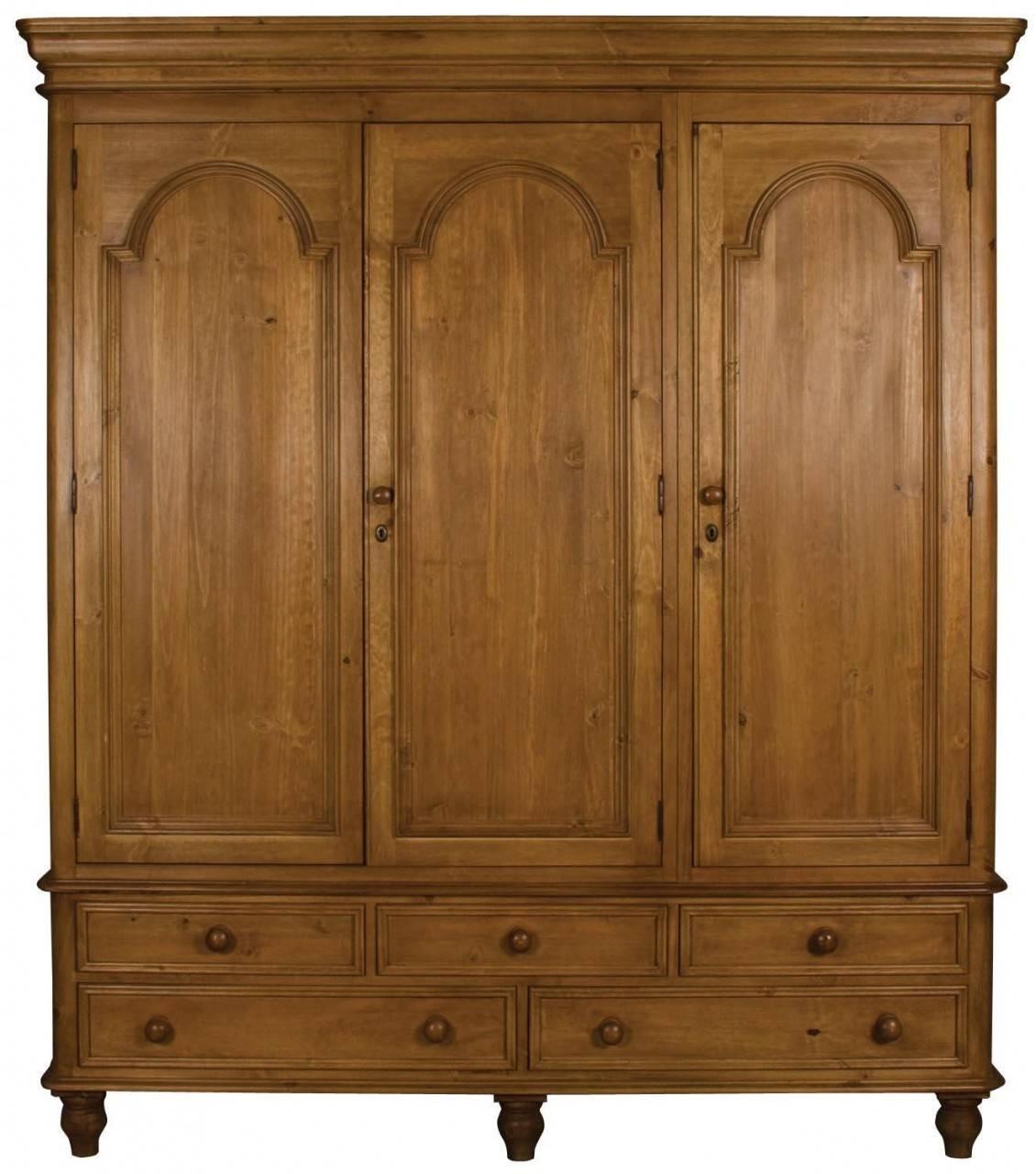 Buy Ascot Pine Wardrobe – Triple 3 Doors 5 Drawers Online – Cfs Uk Regarding 3 Door Pine Wardrobes (View 2 of 15)
