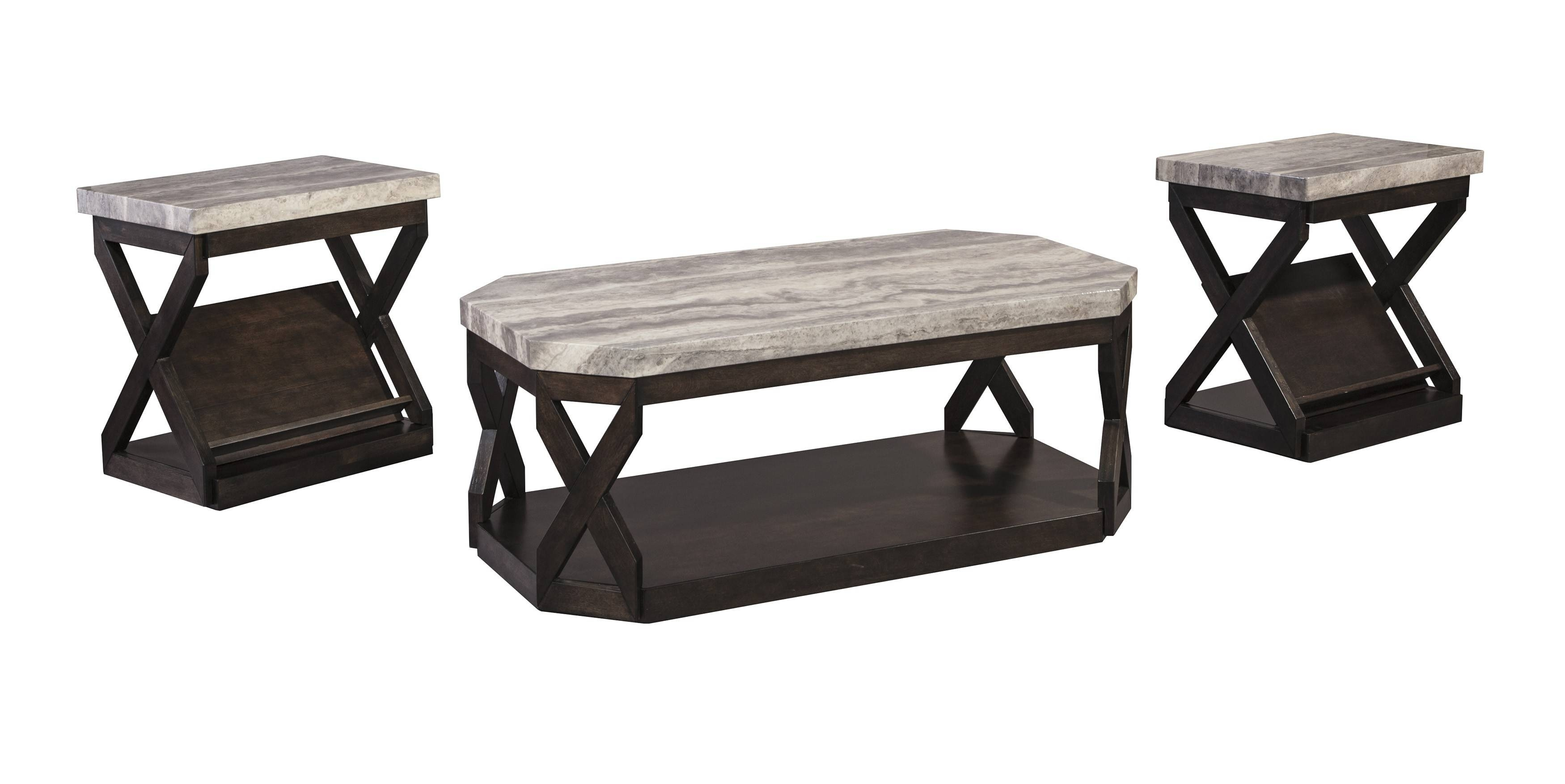 Buy Ashley Furniture Radilyn 3 Piece Table Set intended for 2 Piece Coffee Table Sets (Image 7 of 30)