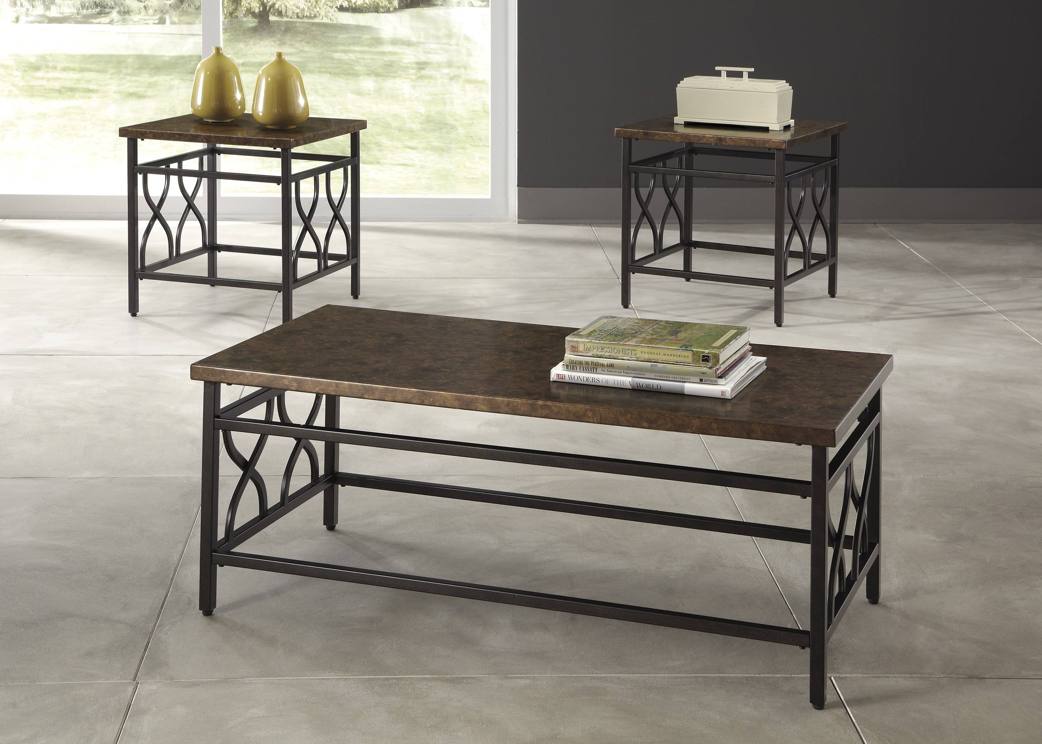Buy Ashley Furniture T269-13 Tippley 3 Piece Coffee Table Set regarding 2 Piece Coffee Table Sets (Image 8 of 30)