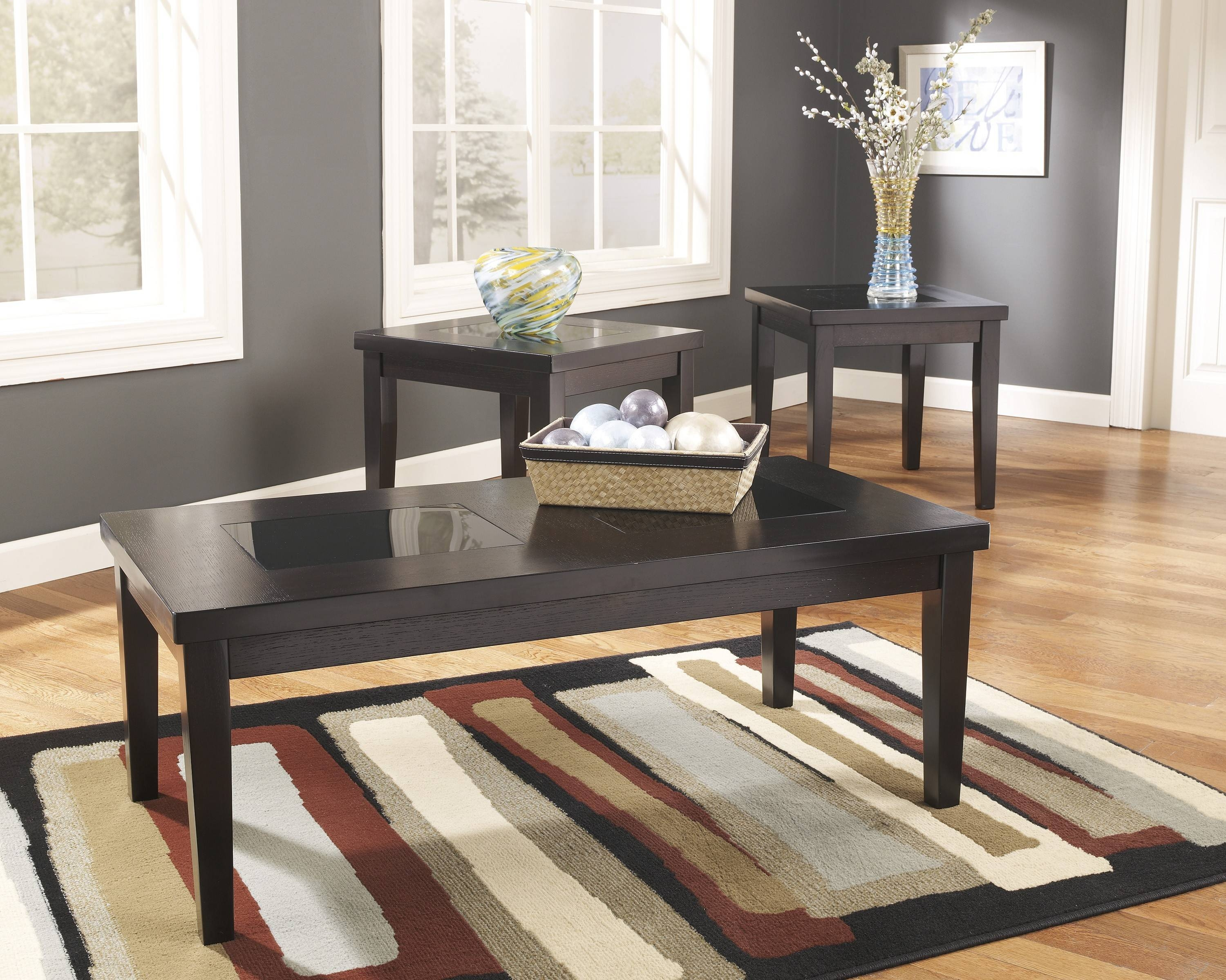 Buy Ashley Furniture T281-13 Denja 3 Piece Coffee Table Set with 2 Piece Coffee Table Sets (Image 9 of 30)