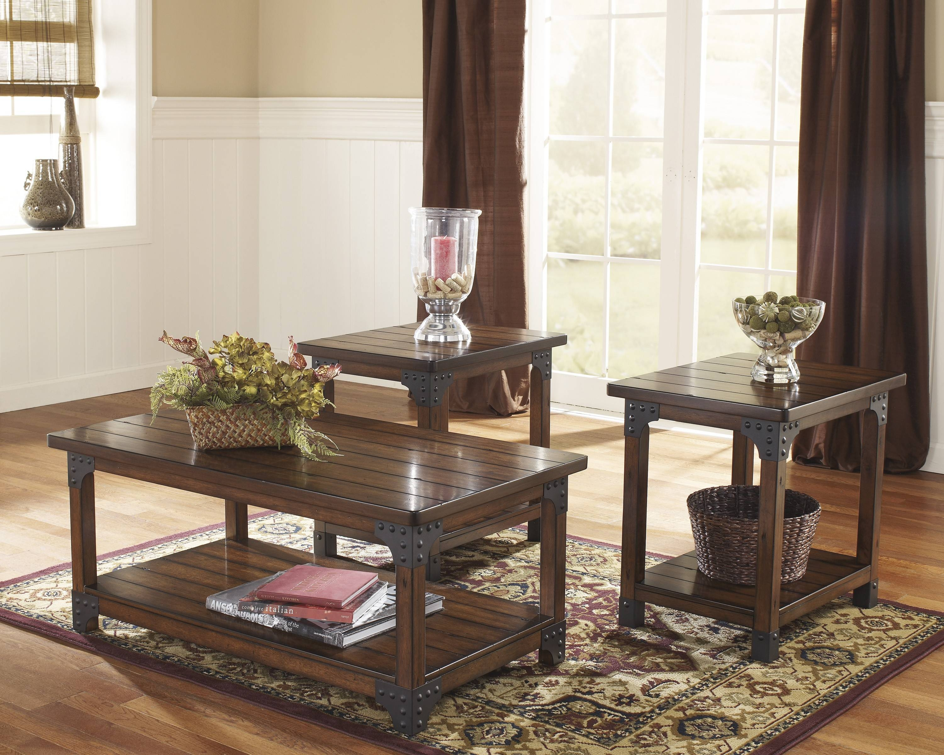 Buy Ashley Furniture T352-13 Murphy 3 Piece Coffee Table Set throughout 2 Piece Coffee Table Sets (Image 10 of 30)