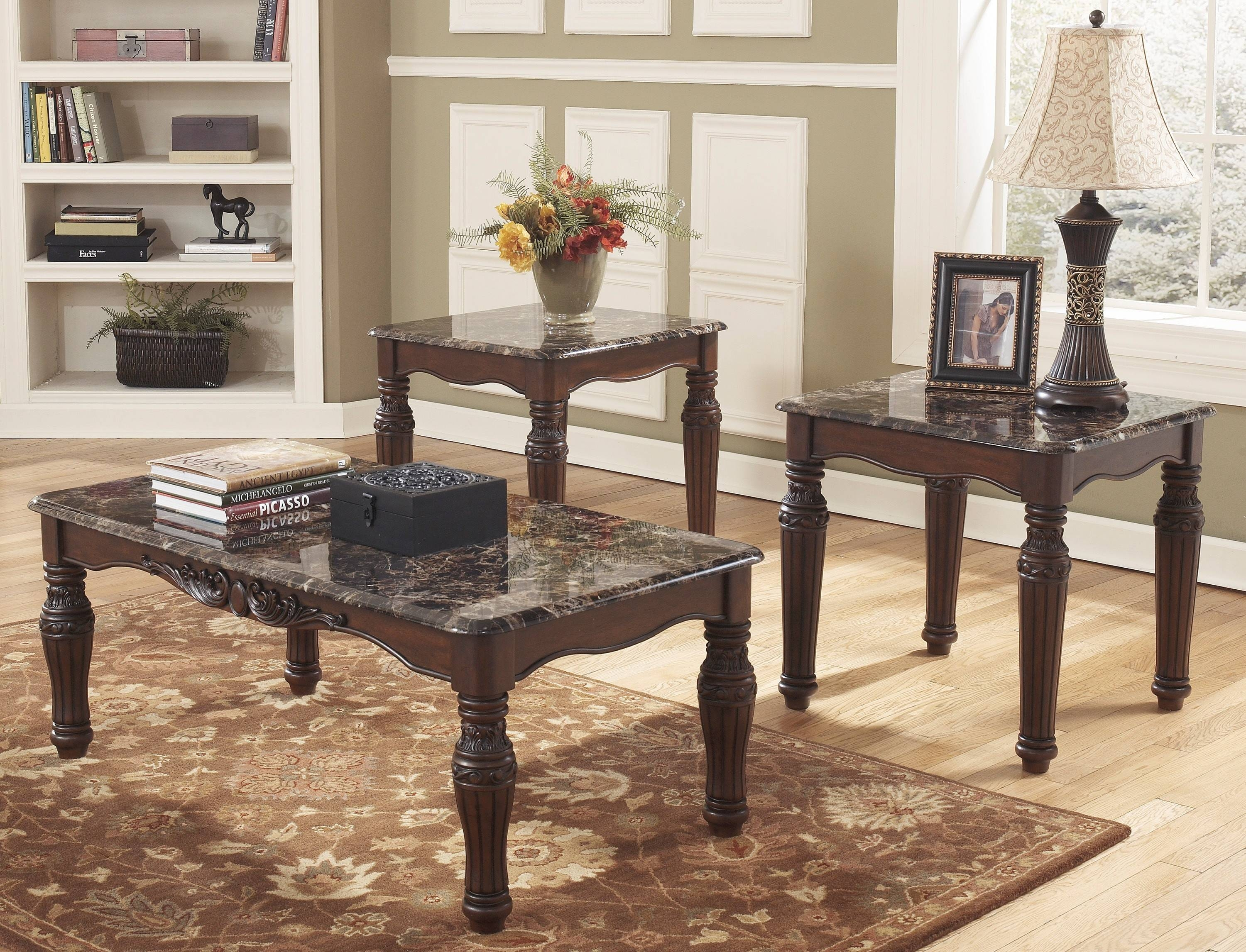 Buy Ashley Furniture T533-13 North Shore 3 Piece Coffee Table Set for 2 Piece Coffee Table Sets (Image 12 of 30)