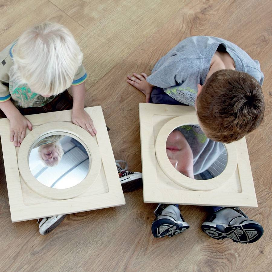 Buy Convex Concave Wooden Mirror Frames 3Pk | Tts Within Small Convex Mirrors (View 5 of 25)