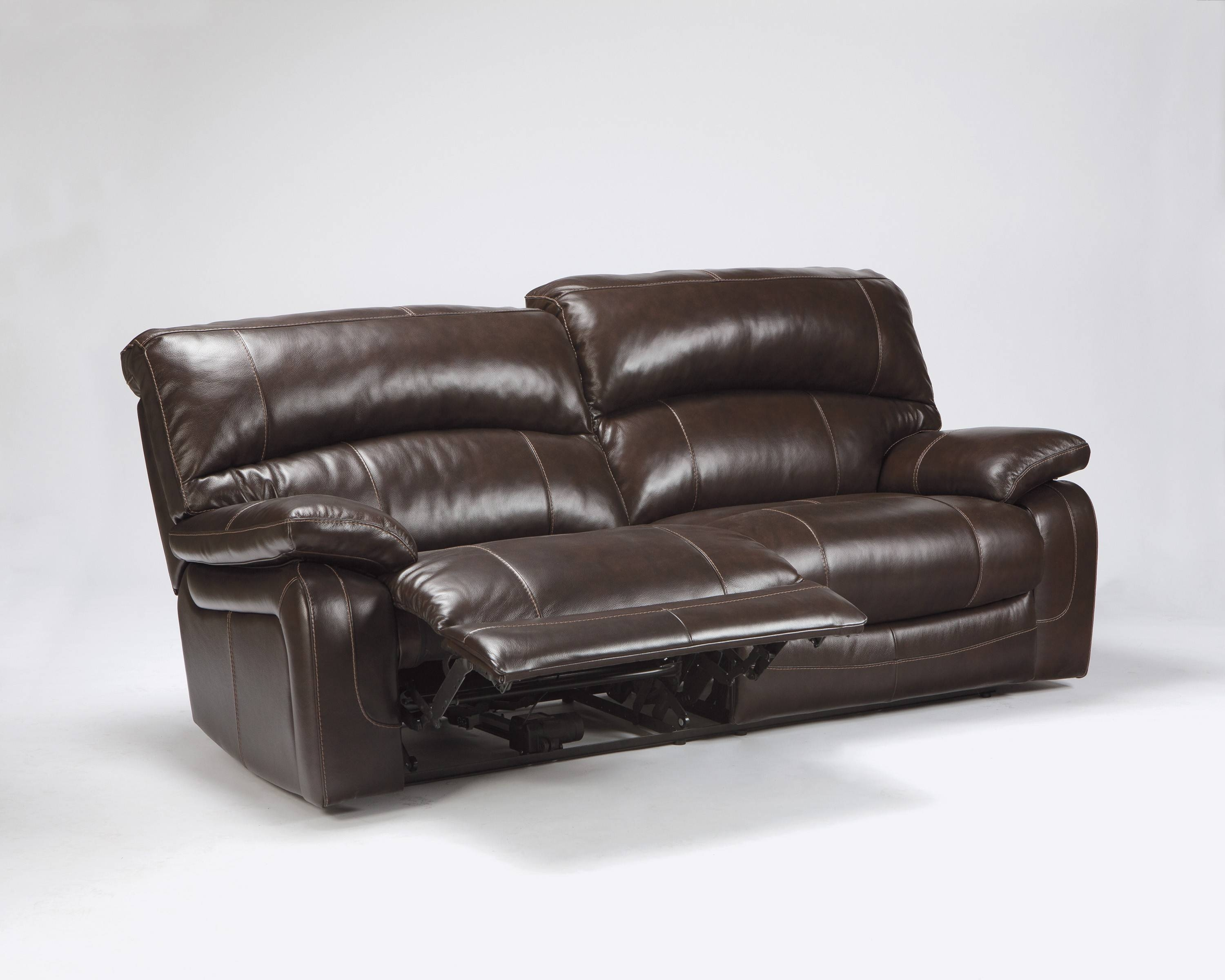 Buy Damacio – Dark Brown Two Seat Reclining Power Sofa Throughout 2 Seater Recliner Leather Sofas (View 22 of 30)