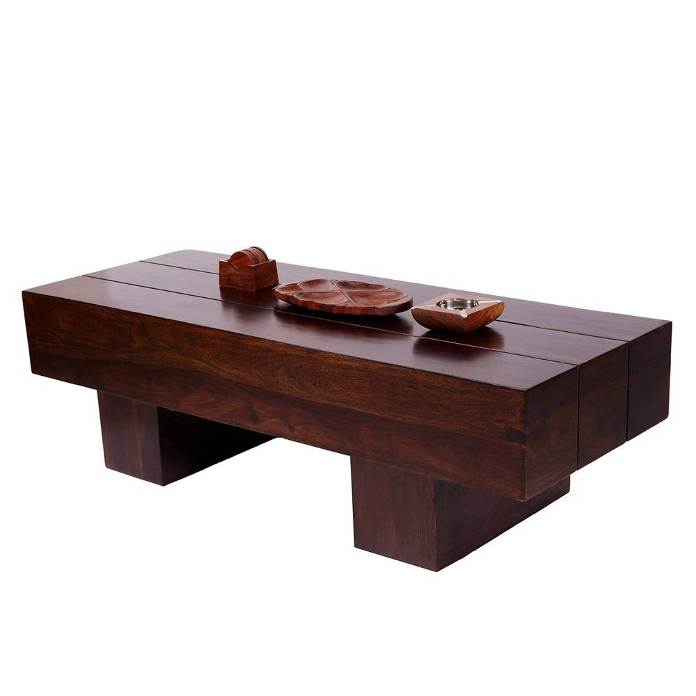 Buy Designer Low Height Coffee Table 46 X 18 Inches - Wood Dekor in Low Height Coffee Tables (Image 6 of 30)