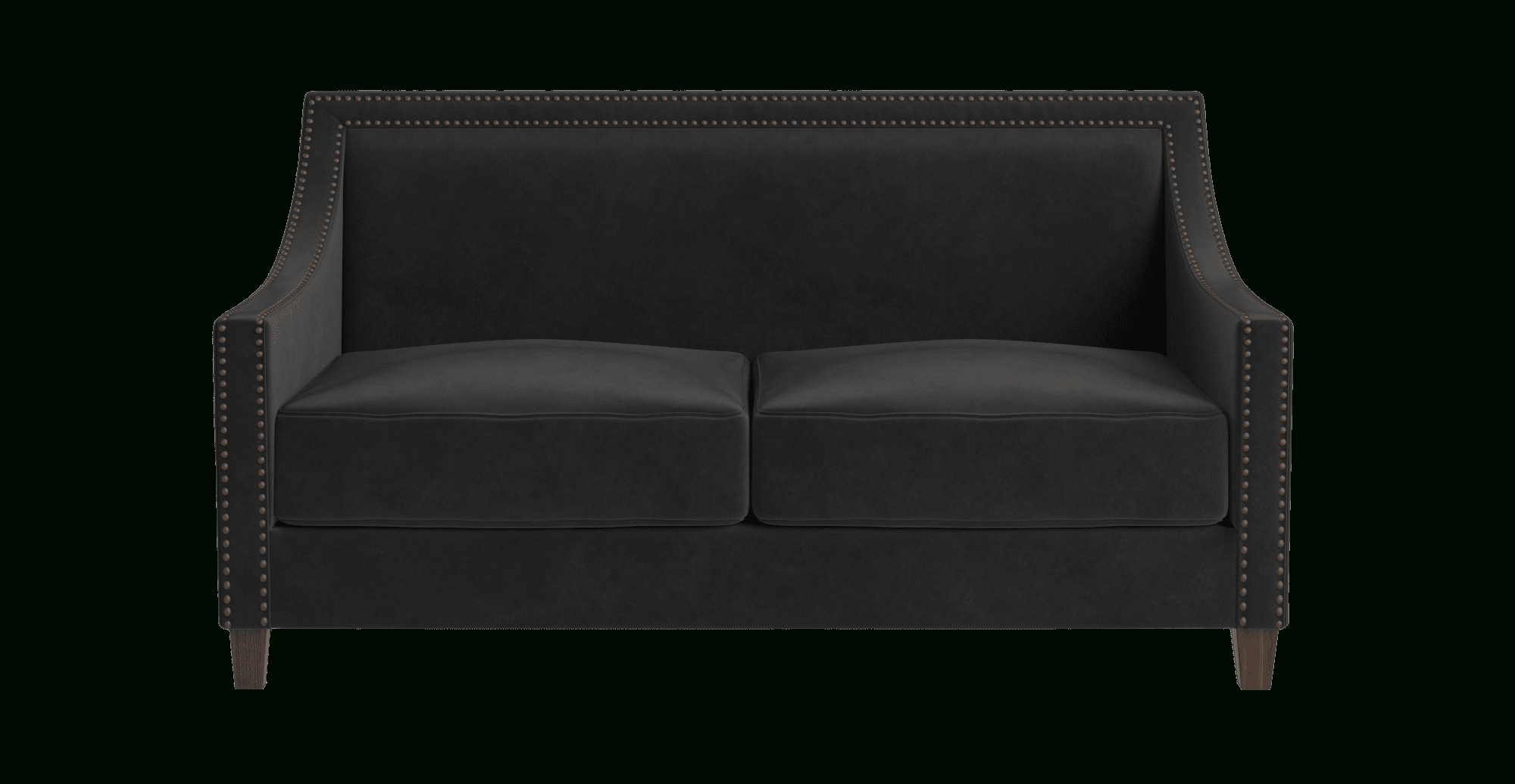 Buy Dianna 2 Seater Sofa Online - Brosa with regard to Black 2 Seater Sofas (Image 8 of 30)