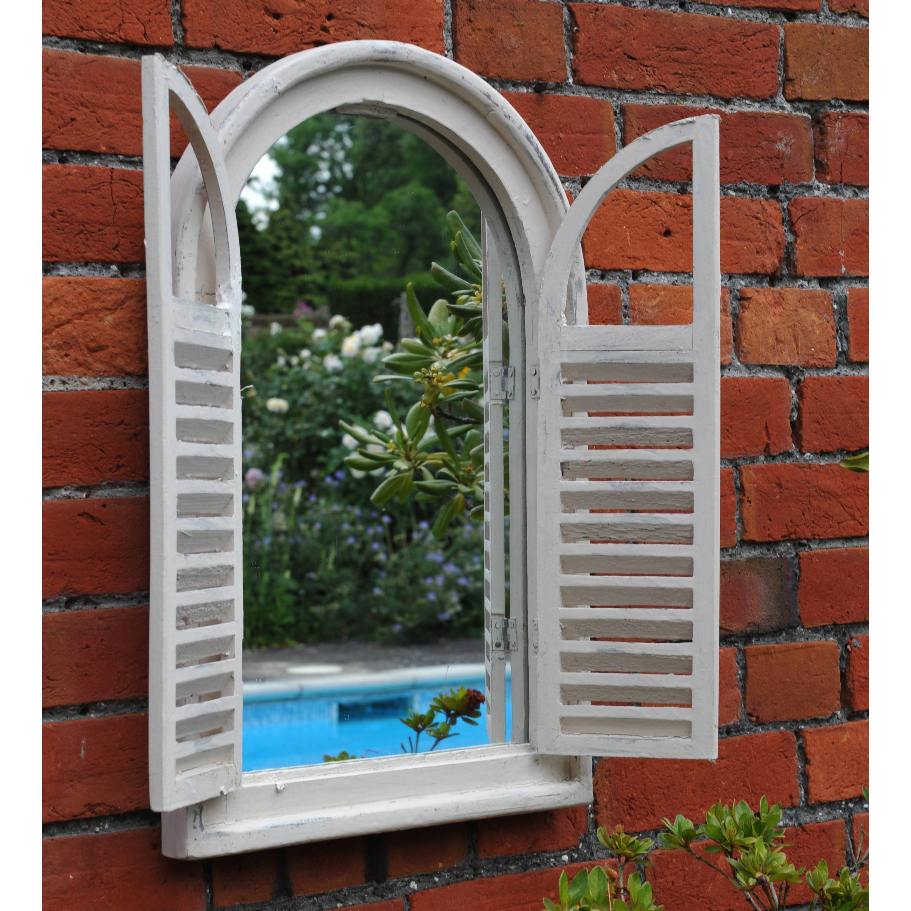 Buy Garden Wall Mirror With Shutters pertaining to Wall Mirrors With Shutters (Image 8 of 25)