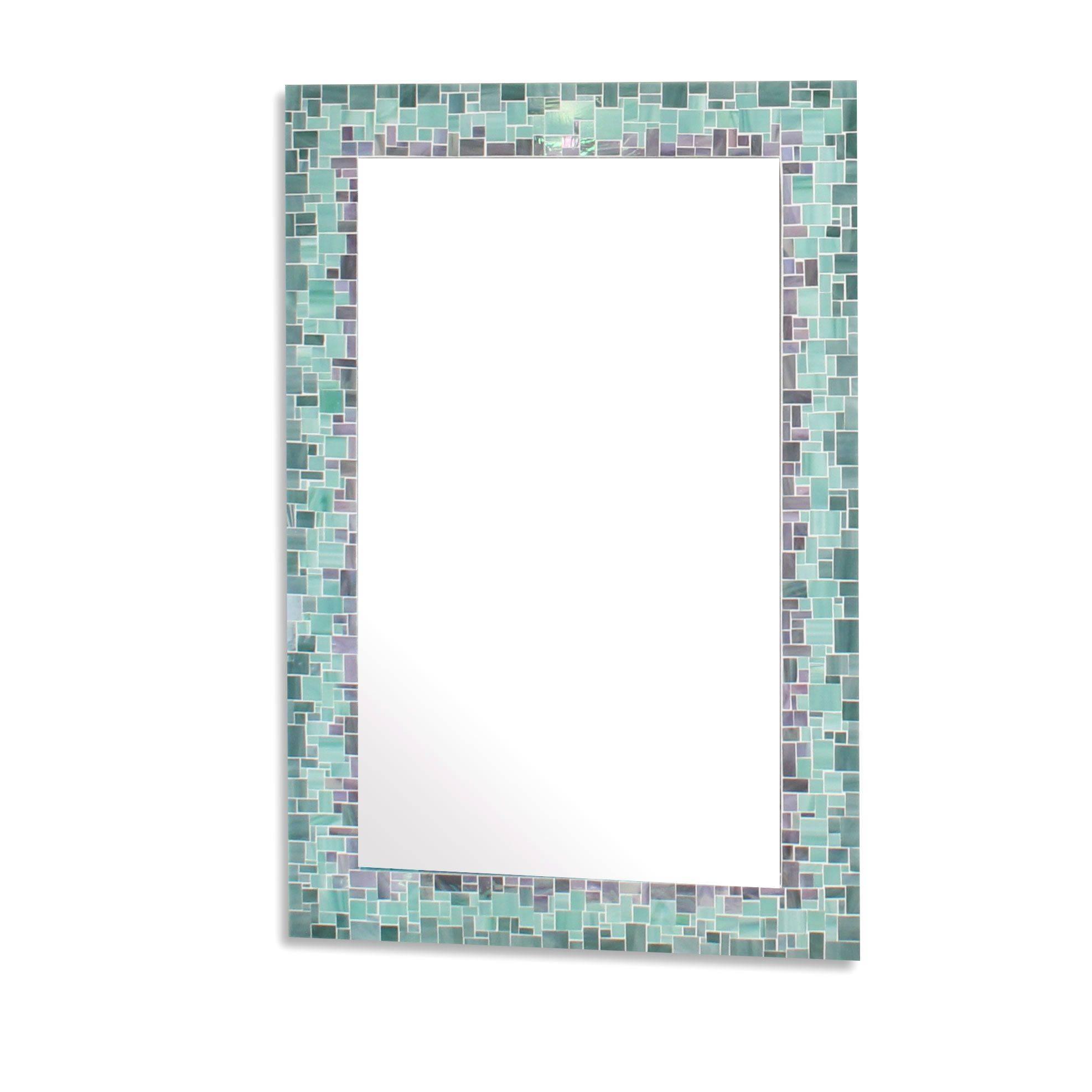 Buy Handmade Sunburst Decorative Mosaic Wall Mirror In Iridescent throughout Mosaic Wall Mirrors (Image 8 of 25)