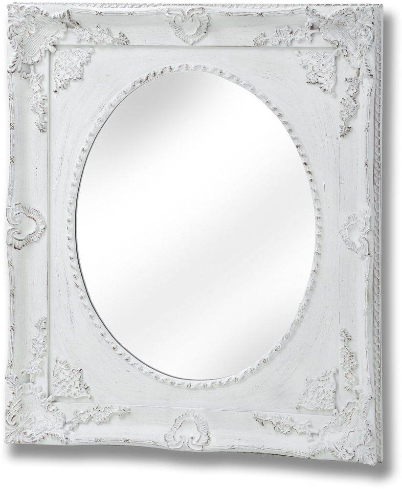 Buy Hill Interiors Ornate Antique White Large Oval Mirror Online in Ornate Oval Mirrors (Image 4 of 25)