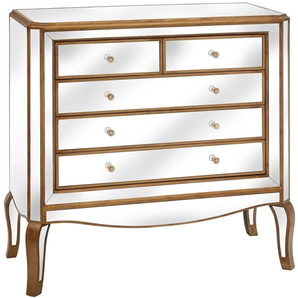 Buy Hill Interiors Venetian Mirrored Chest Of Drawers - 5 Drawer for Venetian Mirrored Chest Of Drawers (Image 4 of 25)