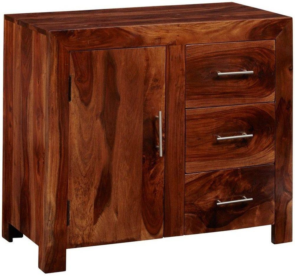 Buy Indian Hub Cube Sheesham Sideboard - Small Online - Cfs Uk inside Sheesham Sideboards (Image 2 of 30)
