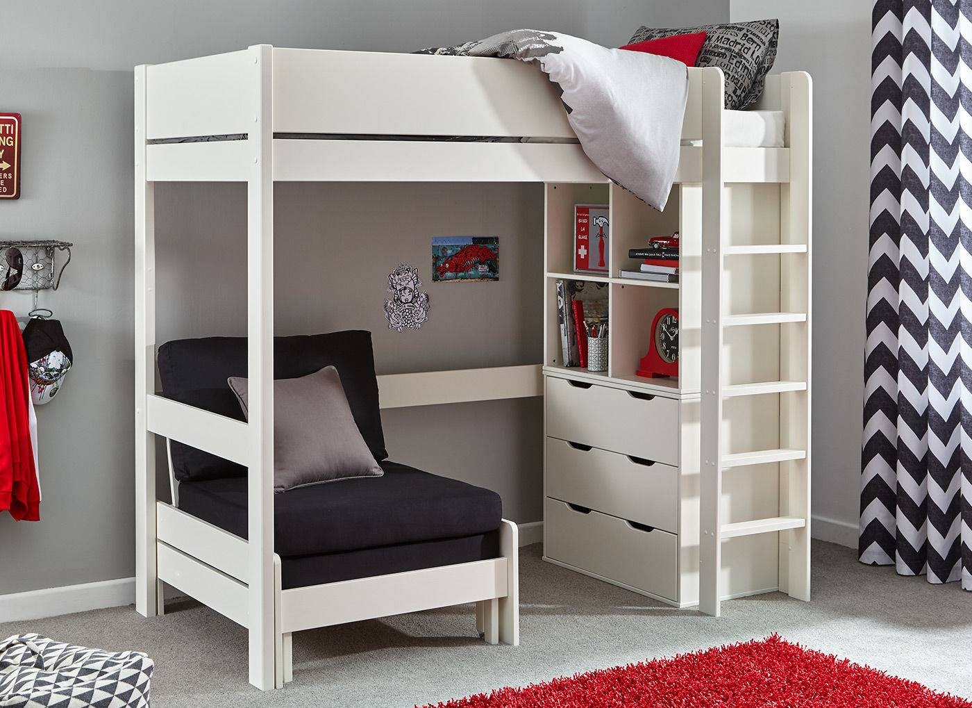 Buy Kids' High Sleepers At Dreams | Quality & Fun High Sleeper pertaining to High Sleeper With Wardrobes and Futon (Image 2 of 15)