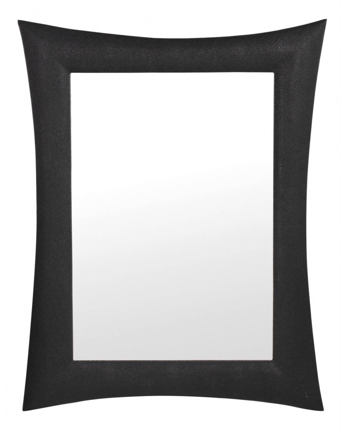 Buy Mandarin Snakeskin Faux Leather Black Stingray Wall Mirror In Black Faux Leather Mirrors (View 10 of 25)