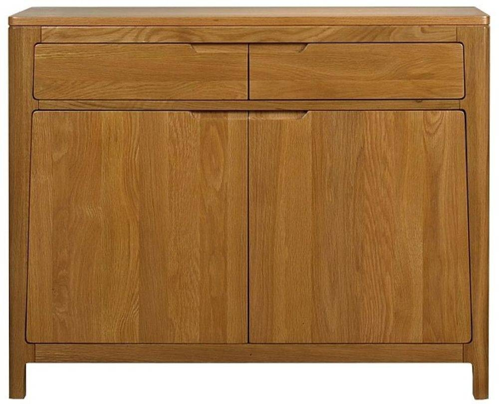 Buy Mark Webster Geo Oak Sideboard - Small 2 Drawer Online - Cfs Uk throughout Oak Sideboards for Sale (Image 4 of 30)