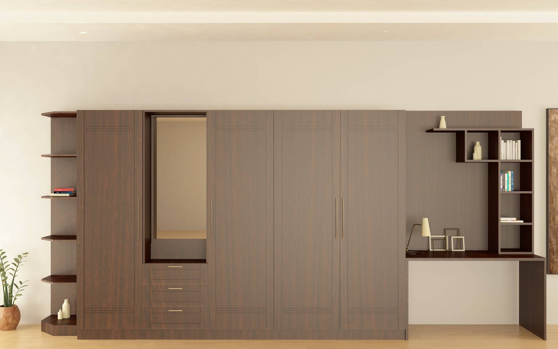 Buy Modular, Latest, Budget Bedrooms Online India - Homelane regarding Country Style Wardrobes (Image 5 of 15)