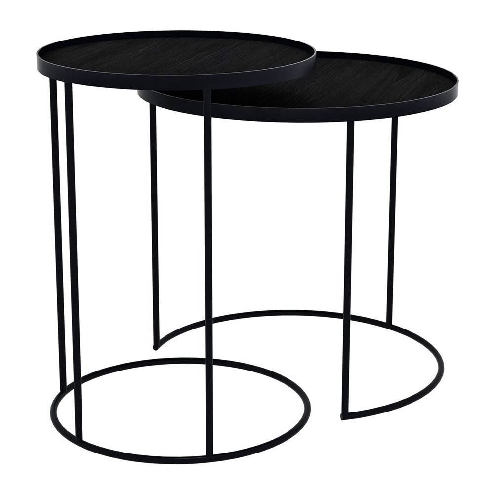 Buy Notre Monde Round Tray Table - Set Of 2 | Amara intended for Round Tray Coffee Tables (Image 4 of 30)
