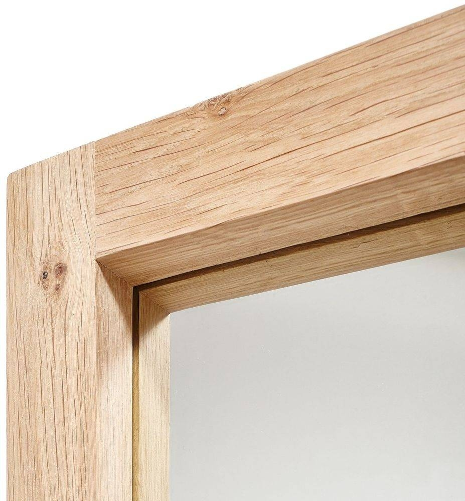 Buy Oak Light Frame Large Mirror Online - Furntastic for Large Oak Mirrors (Image 3 of 25)