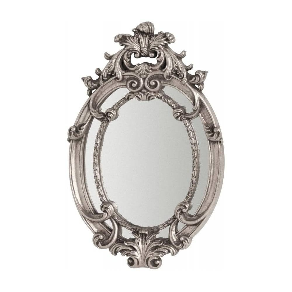 Buy Oval Vintage Style Silver Wall Mirror From Fusion Living intended for Silver Oval Mirrors (Image 7 of 25)