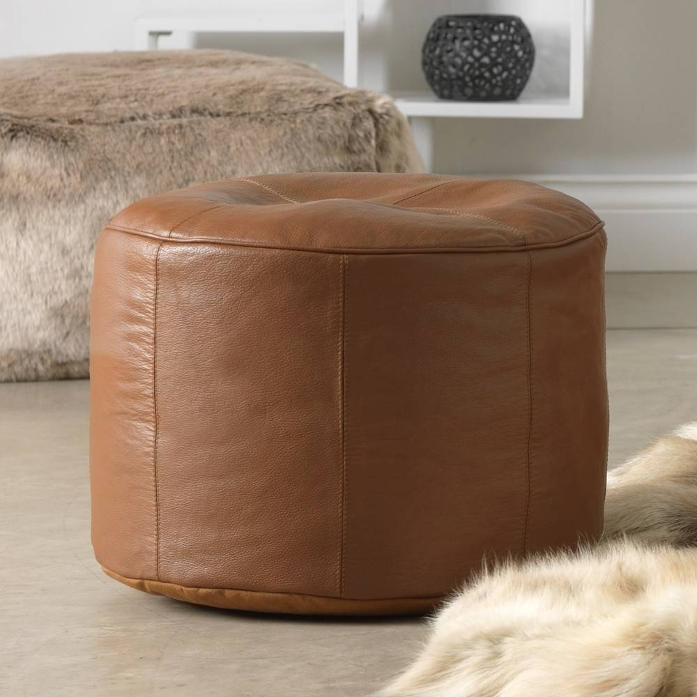 Buy Real Leather Bean Bag Footstools | Real Leather | Bean Bag Bazaar with regard to Leather Footstools (Image 2 of 30)