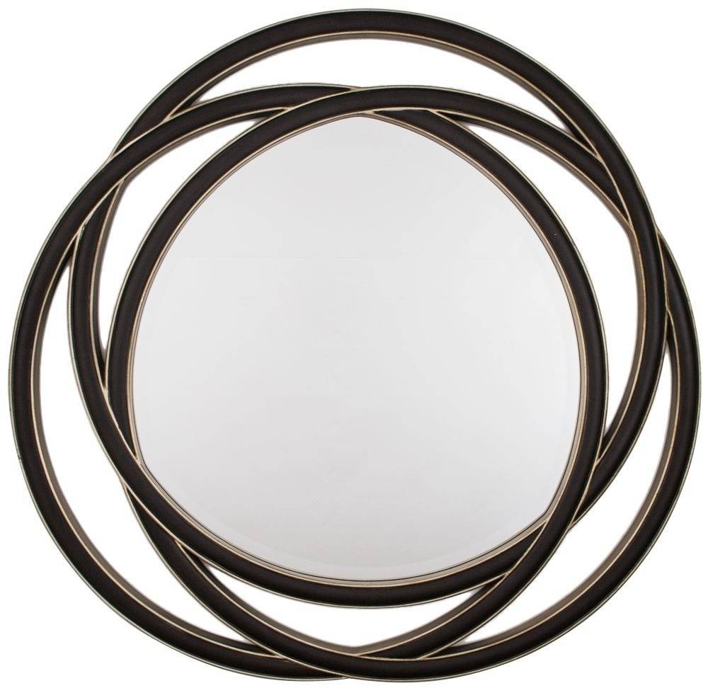 Buy Rv Astley Round Mirror - Black Gloss Online - Cfs Uk regarding Round Black Mirrors (Image 7 of 25)