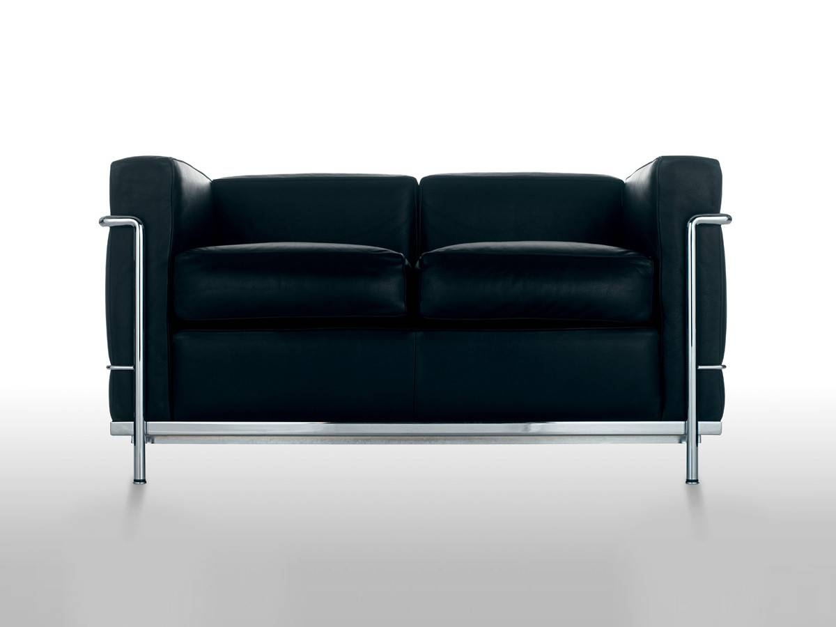 Buy The Cassina Lc2 Two Seater Sofa At Nest.co.uk within Two Seater Sofas (Image 5 of 30)