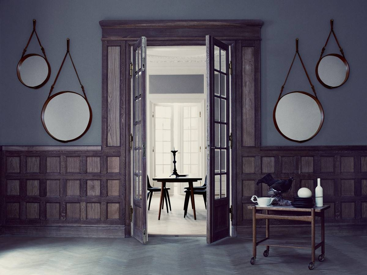 Buy The Gubi Adnet Circulaire Mirror Tan At Nest.co.uk inside Leather Mirrors (Image 11 of 25)