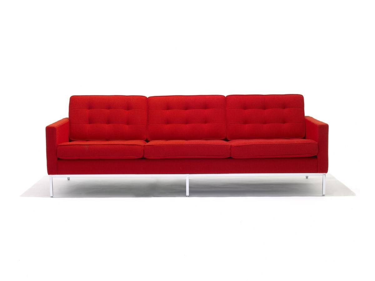 Buy The Knoll Studio Knoll Florence Knoll Three Seater Sofa At with Florence Knoll Wood Legs Sofas (Image 2 of 25)