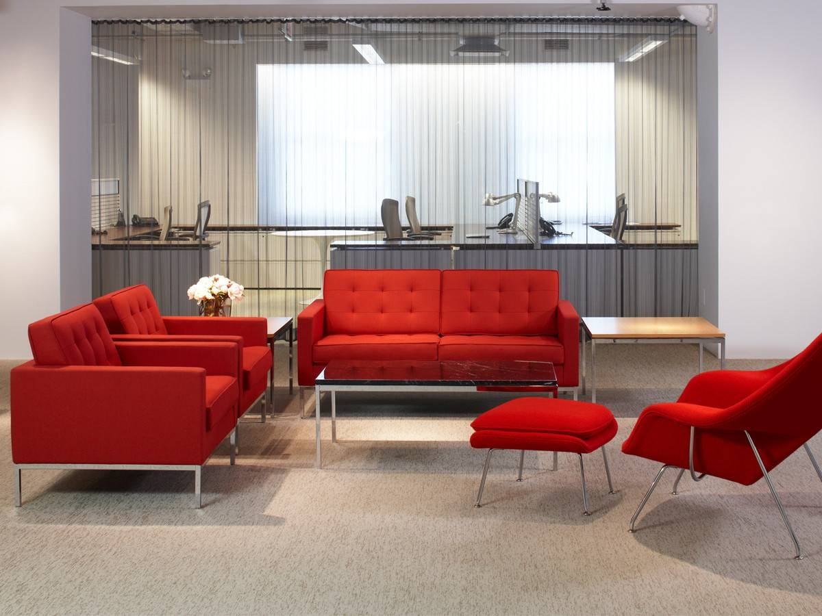Buy The Knoll Studio Knoll Florence Knoll Two Seater Sofa At Nest with Florence Knoll Fabric Sofas (Image 4 of 25)