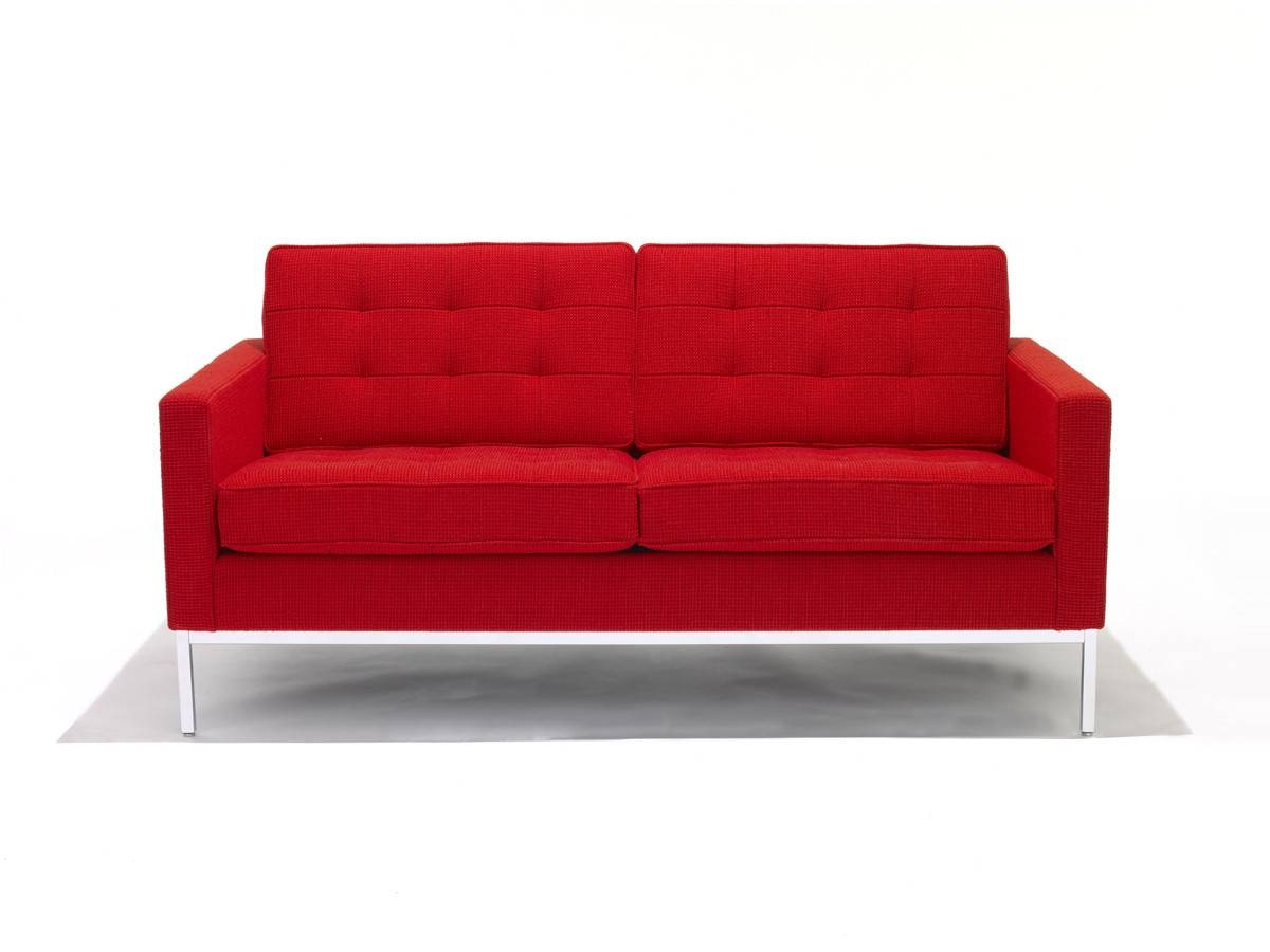 Buy The Knoll Studio Knoll Florence Knoll Two Seater Sofa At Nest with regard to Florence Knoll Wood Legs Sofas (Image 4 of 25)