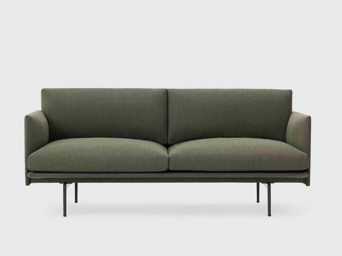 Buy The Muuto Outline Two Seater Sofa In Fiord Fabric At Nest.co.uk in Two Seater Sofas (Image 11 of 30)