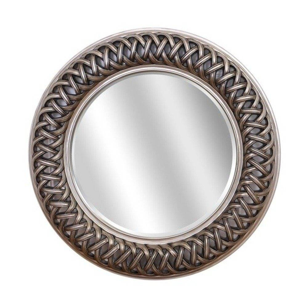 Buy Venice Silver Large Round Mirror | Select Mirrors intended for Silver Bevelled Mirrors (Image 13 of 25)