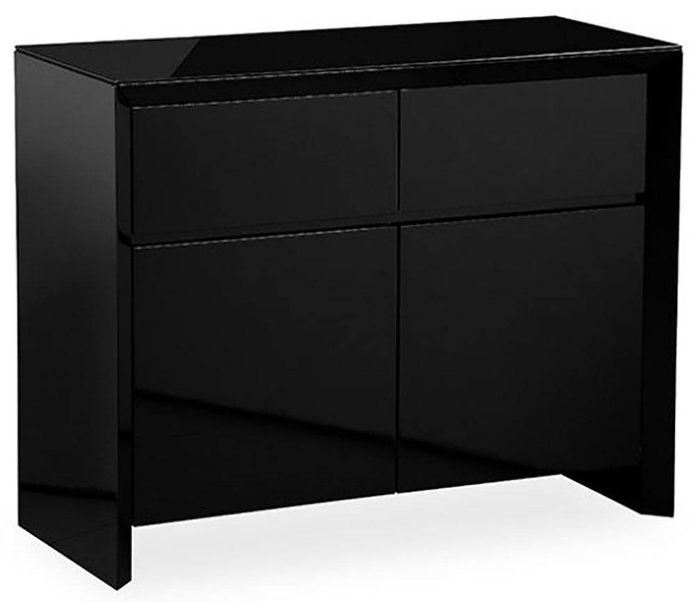 Buy Zeus Black High Gloss Small Sideboard Online - Cfs Uk within High Gloss Black Sideboards (Image 8 of 30)