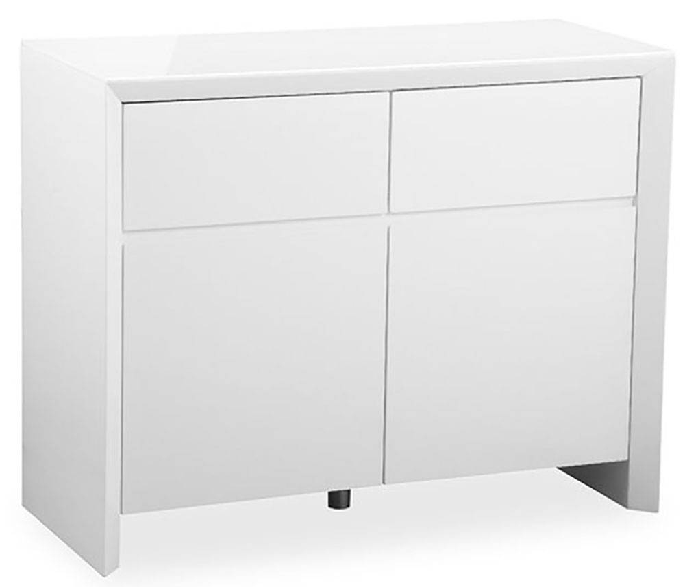 Buy Zeus White High Gloss Small Sideboard Online - Cfs Uk intended for Cheap White High Gloss Sideboards (Image 4 of 30)