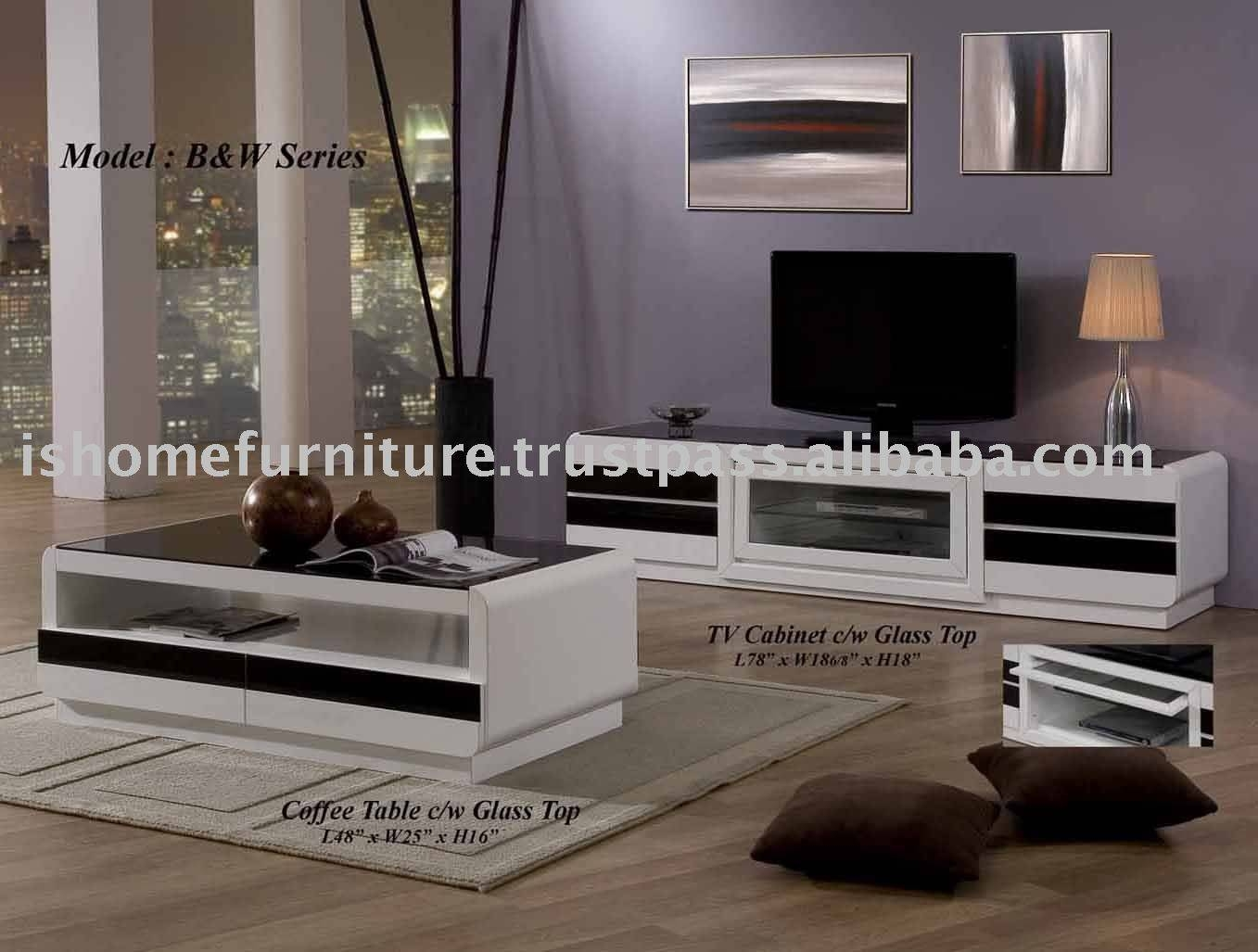 B&w Series - Coffee Table,tv Stand - Buy Home Furniture,coffee with regard to Coffee Tables And Tv Stands (Image 3 of 30)