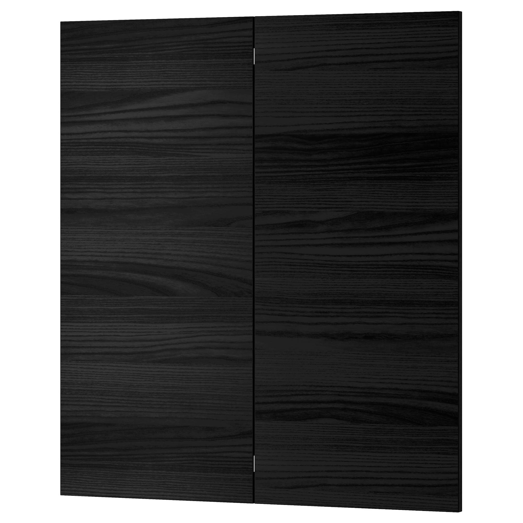 Cabinet Doors - Sektion System - Ikea inside Dark Wood Wardrobe Cheap (Image 9 of 30)